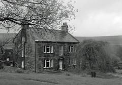 Heptonstall (Audrey A Jackson) Tags: trees windows white house black yorkshire moors sonycybershot blackwhitephotos