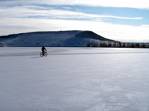 Riding the Frozen Bear Creek Lake