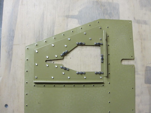 Trim Tab Control Cable Access Plate Reinforcement Plate Installed