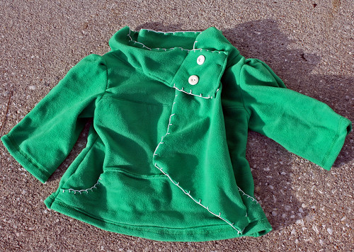 Green Fleece top for my daughter