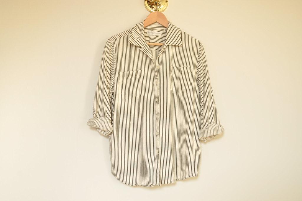 vintage striped silk top