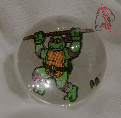 RAD ROLLERS,Collectable Action Marbles :: Teenage Mutant Ninja Turtles COLLECTION Series-1 // Donatello ((1991 ))