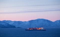 Den blå timen i Hammerfest (Tor Even Mathisen) Tags: lng hammerfest juleferie melkøya snøhvit steder arcticvoyager