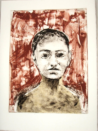 Monotype demo prints-additive to ghost, chine colle