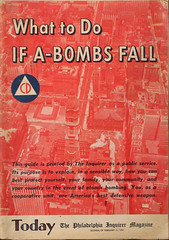 What to Do IF A-BOMBS FALL (James Prochnik Photography) Tags: red usa fall philadelphia public america vintage magazine paper duck energy do fifties united nuclear tint security case collection management civil cover american 1950s scenario if what service worst pulp states guide emergency bomb toned today atomic defense 1950 bombing homeland civilian sensible warfare inquirer annihilation abombs