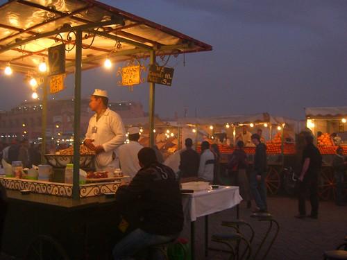 Marrakesh Medina At Night