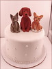 Irish Setter and Cats (Karly West) Tags: figurines sculpey caketoppers bittersweets customcaketoppers bittersweetz