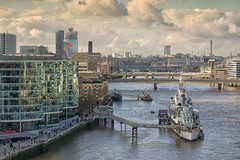 London Thames and HMS Belfast (PhotoChampions) Tags: hmsbelfast london thames tower skyline southbank