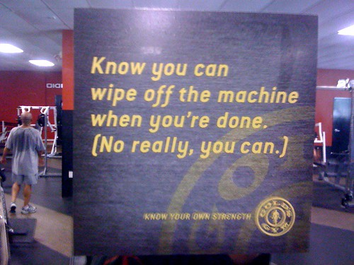Know you can wipe off the machine when you're done. (No, really you can.)