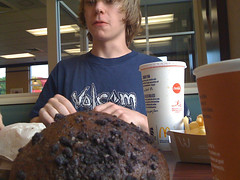 Giant Muffin (genesiscreative) Tags: food ontario giant collingwood picture fast trippy muffin mcdonald iphone