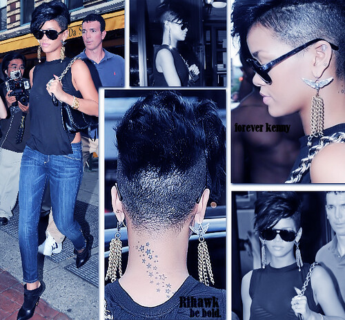 But love this shaved nape of her neck star tattoos show shaved side of