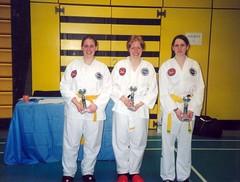 IUTF Intervarsities - UCD Sports Centre (February 2003) (irlLordy) Tags: 2003 ireland dublin smile club february joanne trophies tkd iutf ucd sportscentre aoife blaithin intervarsities