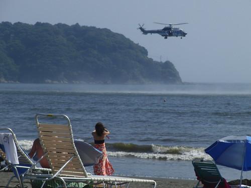 海難救助訓練@江ノ島海岸