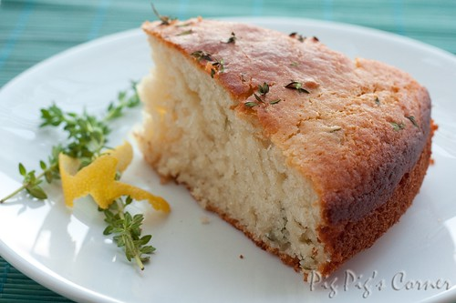 Lemon and Thyme yogurt cake 6