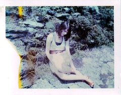 Surrender feels safe (Kate Pulley) Tags: summer amanda girl polaroid sister 320 packfilm cheekwood sleepingatlastlyrics 669ithink itexpiredin1998