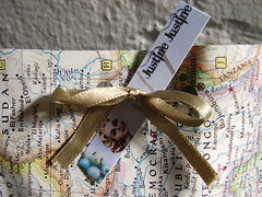 Justine Justine Packaging (justinestandaert) Tags: wrapping maps flock jewelry bunch packaging etsy parcel recycle bundle shipping package collect roundup gather aggregate associate accumulate upcycle bunchup cumulate crowdaround justinejustine gangaround