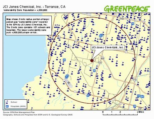 Schools and hospitals near JCI Jones Chemical