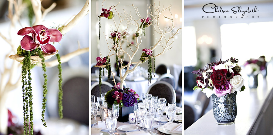 The Provance room westlake village inn floral center pieces manzanita tree
