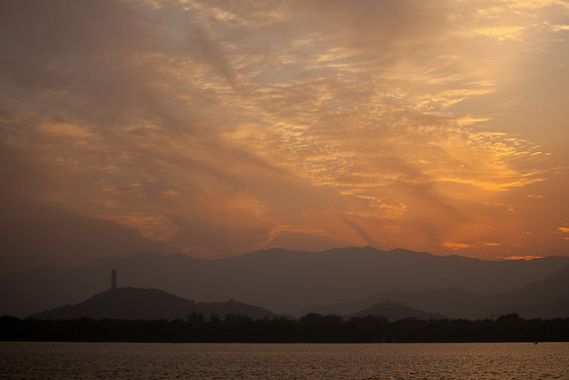 Sunset at the Summer Palace in Beijing, China by Jens Schott Knudsen, Sourced via Flickr