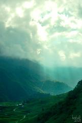 Valley of light (hotvit) Tags: blue light sky cloud white mountain green sunshine nikon stream ray vietnam valley range sapa d60