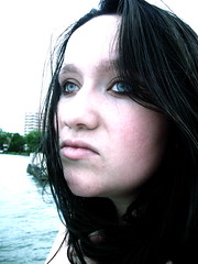 Brilliant Eyes (Kara Allyson) Tags: woman lake wisconsin pier eyes blueeyes madison beautifuleyes unionterrace teenagegirl teengirl