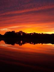 Shields Lake MN (Todd A Moon) Tags: sunset sun lake reflection minnesota clouds reflections sunrays mn goldenhour goodstuff lakereflection lakereflections skytheme skycloudssun skybrewedwater shieldslakemn sheildslake