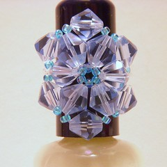 crystal flower ring (itskait) Tags: flower crystal jewelry ring accessories swarovski seedbeads bicone beadandbutton