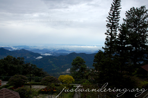 View from the Penang Food Village Restaurant at the Theme Park Hotel in Genting Highlands