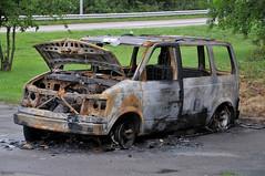 Chevrolet Astro burnout (Rolfen) Tags: chevrolet göteborg sweden decay gothenburg astro crime chevy sverige burnout van burned torched dumped cheva utbränd uppeldad
