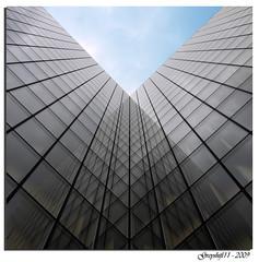 Bibliothèque Nationale de France de dessous (Greyshift11) Tags: paris france monument lumix panasonic bnf g1 mm bibliothèque 45mm dmc nationale 1445 14mm dmcg1