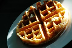 Belgians For Breakfast (CarbonNYC [in SF!]) Tags: shadow food brown breakfast butter carbs syrup simple waffle belgianwaffle calories browned breakfastfood foodphotography carbonnyc carbonsf