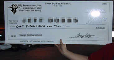 Payday: Big Insurance, Giant Check