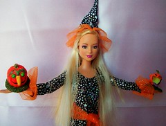 barbie  lea  enchantres (napudollworld) Tags: girls halloween fashion witch ghost barbie scene characters fever