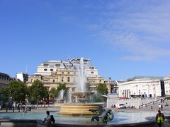 The fountains in the square