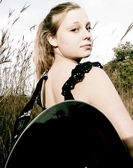 Guitar Girl (Kara Allyson) Tags: music girl field grass wisconsin guitar wheat teen hippie