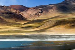 Ombres (hubertguyon) Tags: chile voyage travel lagune mountain lake america montagne chili atacama latina gmt latine amrique mywinners