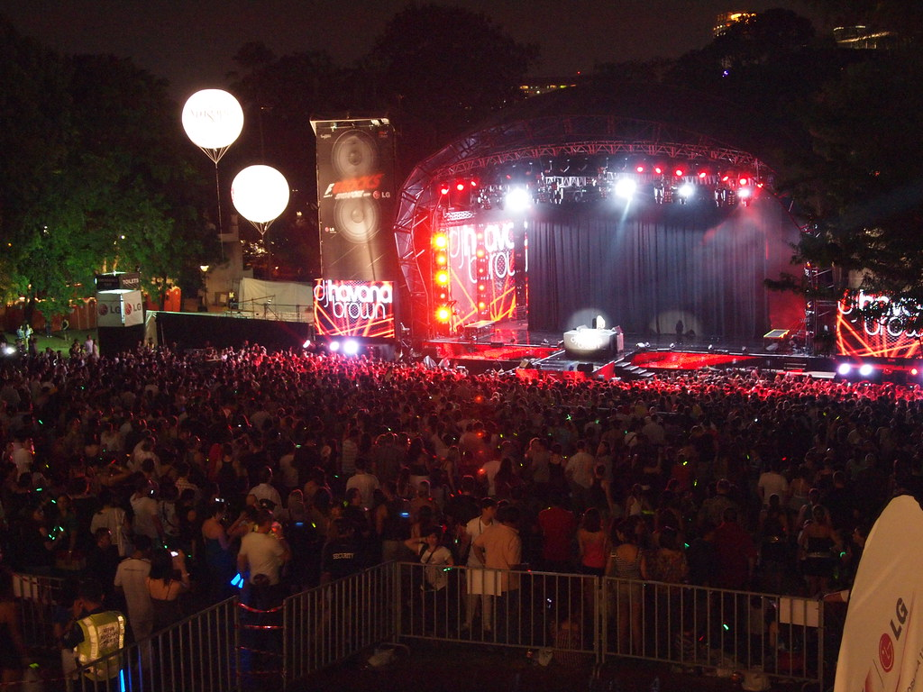 Fort Canning Concert grounds at F1 Rocks @ Singapore