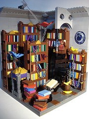 Unseen University's Library (captainsmog) Tags: vortex fun chains university crystals gallery lego library magic books cage bananas terry librarian minifig shelves pratchett novels universes discworld moc disquemonde