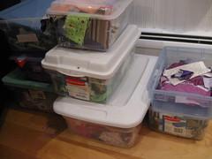 Boxes of scraps