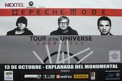 super concierto con Depeche Mode en Lima. 13 de octubre