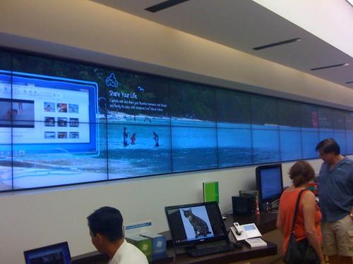 Microsoft Store wall
