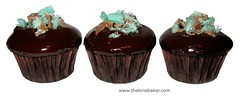 Midnight Mini Mint Cupcakes (The Lone Baker) Tags: cupcakes chocolate mint mini cupcake midnight