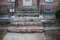 Front steps finished! (digitalhuckle) Tags: sandstone repair remodel frontporch