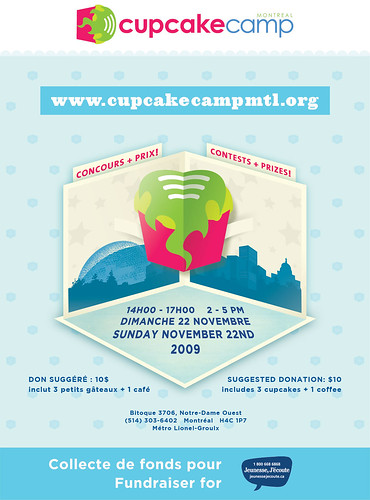 cupcake camp montreal poster