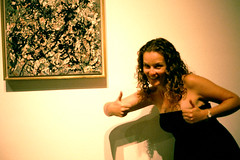 Two Thumbs up for Art (Zabowski) Tags: art up museum painting losangeles jackson pollack thumbs lacma obnoxious