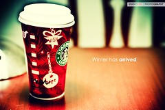 Winter has Arrived  (18/365) (Simon Hua) Tags: starbucks white peppermint mocha hbw afternoon frappuccino ilovestarbucks home nikon d80 nikkor 50mm f14g memphis tn color christmas thanksgiving newyear holiday season