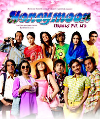 [Poster for Honeymoon Travels Pvt. Ltd. with Honeymoon Travels Pvt. Ltd., Shabana Azmi, Boman Irani, Abhay Deol, Minissha Lamba, Amisha Patel, Karan Khanna, Vikram Chatwal, Sandhya Mridul, Reema Kagti]