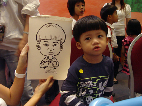Caricature live sketching for Marina Square X'mas Tenants Gathering 2009 - 1