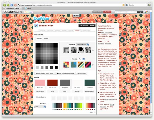 themeleon :: Twitter Profile Designer by COLOURlovers