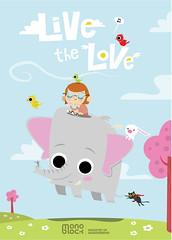 Live the love (medialunadegrasa) Tags: illustration children juan carlos animales autor viva peron premio monoblock cuaderno destapa